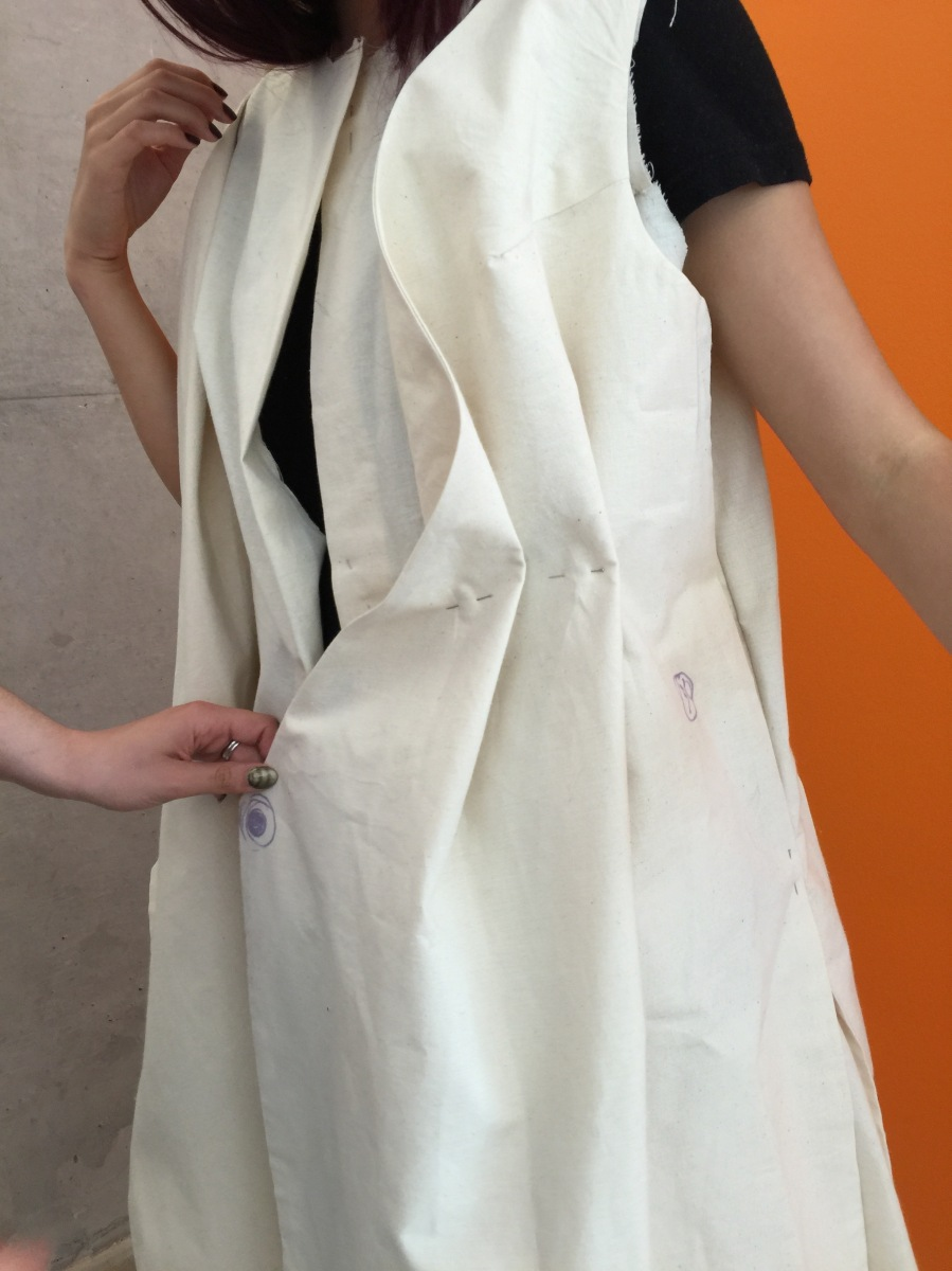 modular dress muslin prototype